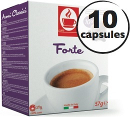 Capsules compatibles Nespresso� Forte x10