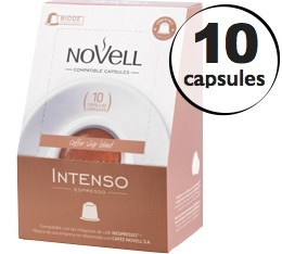 Capsules Intenso x10 Novell pour Nespresso