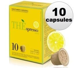 10 Capsules Thé Citron compatibles Nespresso® - Caffè Vergnano