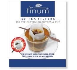 Filtre à thé x 100  avec Stick - Finum