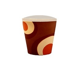 100 gobelets caf� carton couleur marron - 12 cl