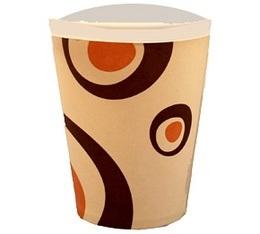 100 gobelets caf� carton couleur cr�me - 25 cl