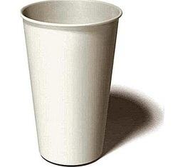 100 gobelets caf� carton blanc - 35 cl