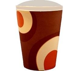 100 gobelets caf� carton couleur marron - 35 cl