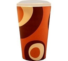 100 gobelets caf� carton couleur caramel - 50 cl