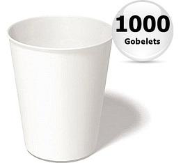 1000 gobelets café carton blanc - 25 cl