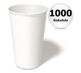 1000 gobelets caf� carton blanc - 35 cl