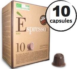 Capsule Espresso Bio Caffè Vergnano x10 pour Nespresso