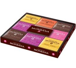 Coffret Collection 18 carr�s de chocolat gamme excellence 6 saveurs - Monbana