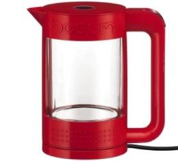 Bouilloire électrique Bodum Bistro transparente double paroi rouge 1,1L