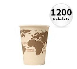 1200 gobelets en carton Monde - 18cl