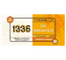 Th� noir Breakfast 1336 (Scop TI) x 20 Mousselines
