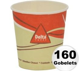 160 gobelets en carton d'une contenance de 12cl - Delta