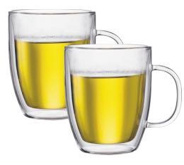 2 verres BODUM BISTRO 45cl (avec anse)