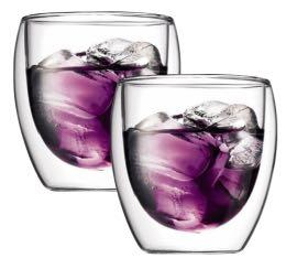 2 verres BODUM PAVINA 25cl