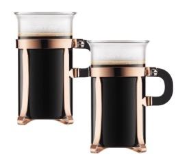 2 tasses cuivre rosée CHAMBORD - 30 cl - Bodum