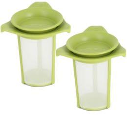 Lot de 2 Filtres à thé Yo-Yo vert Bodum