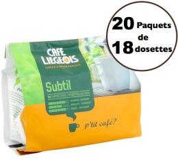 Caf� dosettes souples Subtil x360 - Caf� Liegeois