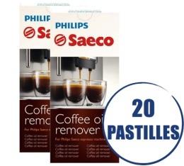 Lot de 2 tablettes D�graissantes Saeco CA6704/99 pour machines expresso - 2 x 10 pastilles