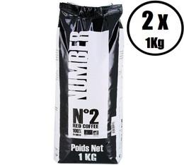 Café en grains Number N°2 Red Coffee 100% Arabica Bio - (2x1Kg)