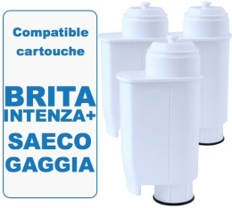 Lot de 3 cartouches filtrantes Filter Logic FL902 compatible Saeco Brita Intenza +