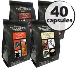 Pack découverte - Cafés Aromatisés - Maison Taillefer - 40 capsules pour Nespresso