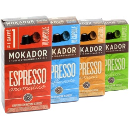 Pack d�couverte - Capsules Mokador Castellari x40 pour Nespresso