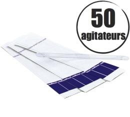 50 agitateurs (m�langeurs) emball�s individuellement - Lavazza