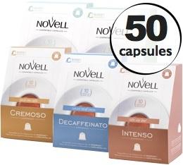 Pack découverte Novell - 50 capsules pour Nespresso