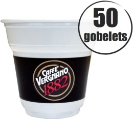 50 Gobelets plastiques 15 cl Caffè Vergnano