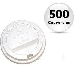 500 couvercles pour gobelets caf� carton blanc 12 cl