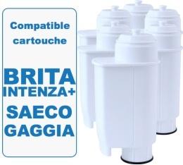 Lot de 6 cartouches filtrantes Filter Logic FL902 compatible Saeco Brita Intenza +