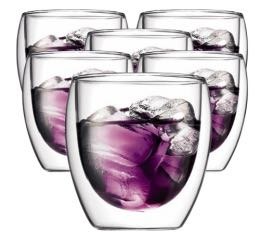 6 verres BODUM PAVINA 25cl