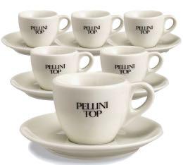6 tasses � caf� en porcelaine - Pellini Top