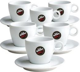 6 Tasses et sous-tasses cappuccino Caffè Vergnano