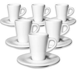 6 tasses expresso et sous-tasses 7 cl porcelaine Speciale Degustazione - Ancap