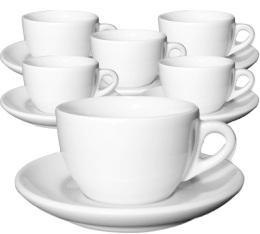 6 tasses cappuccino et sous-tasses 15 cl porcelaine Competition Palermo - Ancap