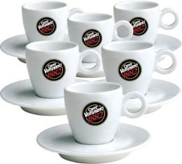6 tasses et sous-tasses expresso Caff� Vergnano