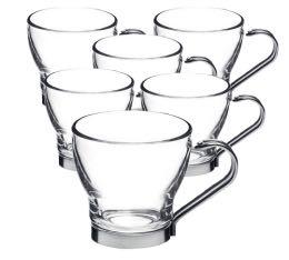 6 verres  espresso Oslo avec anse - 10 cl