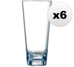 Lot de 6 verres en plastiques 38cl OutDoor