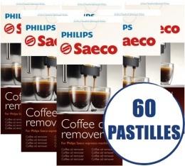 Lot de 6 tablettes D�graissantes Saeco CA6704/99 pour machines expresso - 6 x 10 pastilles