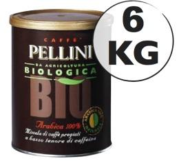 Caf� moulu Pellini Bio 100 % Arabica 6 kg
