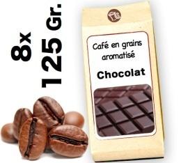 Café grain aromatisé Chocolat - 8x 125g