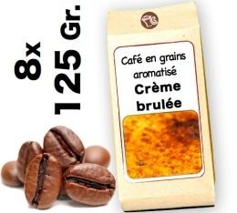 Café grain aromatisé Crème Brulée - 8x 125g
