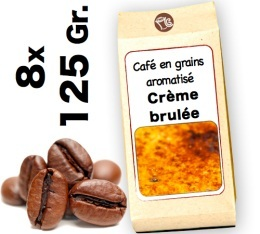 Caf� grain aromatis� Cr�me Brul�e - 8x 125g