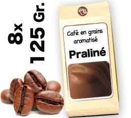 Caf� grain aromatis� Pralin� - 8x 125g
