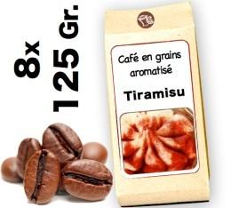 Café grain aromatisé Tiramisu - 8x 125g