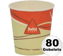 80 gobelets en carton d'une contenance de 12cl - Delta