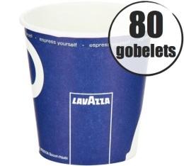 80 gobelets en carton 10cl Lavazza