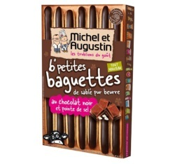 Baguettes de sabl�s pur beurre au chocolat noir - Michel et Augustin